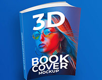 3D Book Cover Mockup Free Psd Download