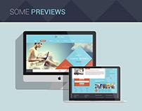 Free Psd Web site template  - Sitekafe Business