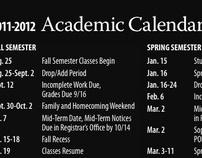 Academic Calendar Magnet