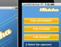 iBetcha iPhone App UI design