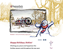2015 Holiday Card, Art and Microsite