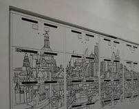 London Skyline Locker Graphics