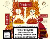 Nobel Cigarettes. Tobacco box collection