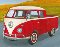 Diminutive Autos - Original Acrylic Paintings