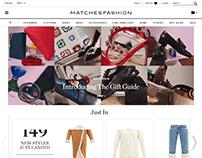 Matches Fashion Website Design