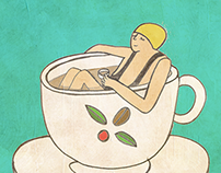 Coffee Illustration: Green Plantation (Aug-Oct) 2015
