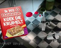 """Bolletje Kruimeldief"", stopmotion commercial"