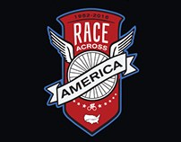 Tshirt graphic for Race Across America Apparel