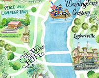 Love Your 'Hood : Central Bucks County Illustrated Map