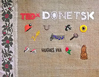 Embroidered cover for TEDxDonetsk Facebook page