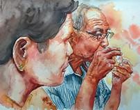 Grandpa and Grandma_watercolor