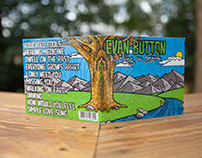 Walking on Earth Album Art and Gig Poster – Evan Button