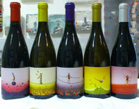 Idoia wine labels