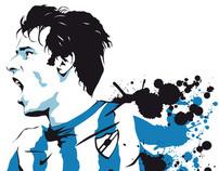 Illustrations for Malaga Football Club
