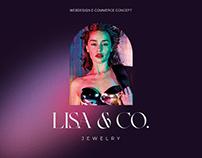 LISA&CO. JEWELRY WEB DESIGN E-COMMERCE