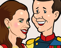 Royal Danes. Caricatures for a mobile game.