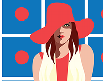 Polka dot - fashion illustration