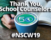 Social media graphic for school counselors appreciation