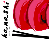 Hanashi Sushi Bar- Logo + Interior Design