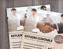Afiche promocional - Estudio Contable