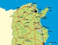Carte routière de la Tunisie