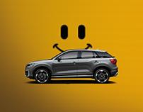 Ilustración y montaje visuales Audi Q2