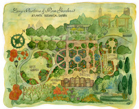 Atlanta Botanical Garden, Illustrated Map