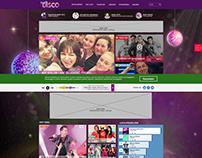 Web service for disco music fans. UI/UX, RWD