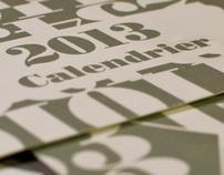 Un Calendrier Typographique