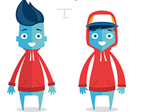 Cartoon Character Design. Vector Illustration