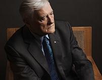 Portrait of president of Lithuania, Valdas Adamkus.
