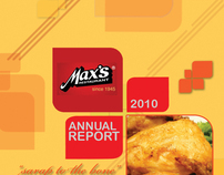 Max's Restaurant Annual Report Cover