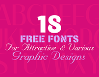 18 Free Fonts for Attractive & Various Graphic Designs
