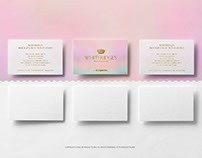 6 Business Cards in two lines PSD Mockup