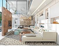 Villa Ghalia Abbas design interior. Dubai