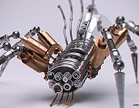 A mechanical spider
