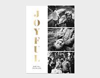 Christmas Card Template - Joyful