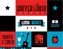 Aniversário do Lima - Birthday Party Invitation