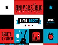 Aniversário do Lima - Birthday Party Invitation