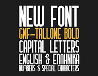 GNF Tallone Typeface