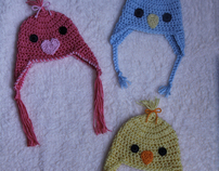 Spring Peep Chick Hat Collection: By Mrs. V's Crochet