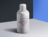 Cosmetic Shampoo Lotion Bottle Mockup PSD
