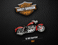 Harley Davidson Scale Model and Book Packaging