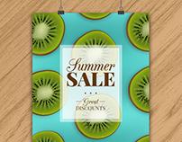 Realistic Summer Sale Poster III | Designed for Freepik