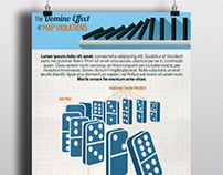 Infographic Design // The Domino Effect