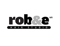 rob&e HAIR STUDIO identity