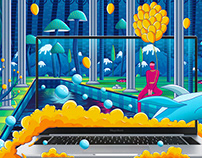 荣耀MagicBook Pro插画壁纸