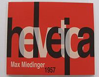 Helvetica Typeface Booklet