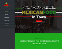 Francisco's Mexican Food | Web Design
