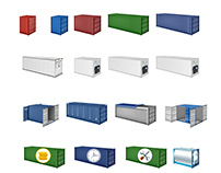Icons of containers